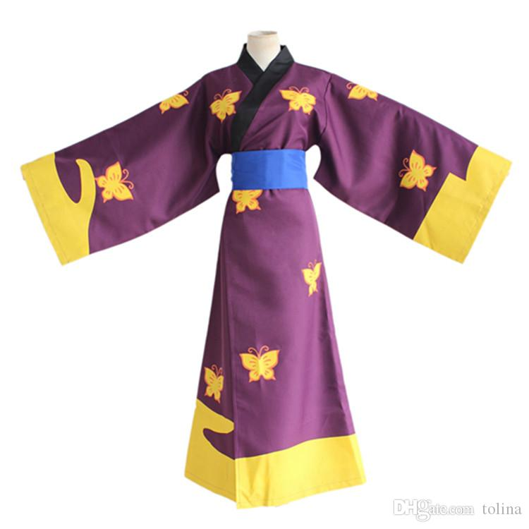 Halloween Cosplay Costume Man Japanese Anime GINTAMA Kimono Party Show COS Suit