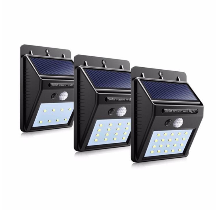 LED Porch Lights LED Solar light waterproof Outdoor lighting PIR Motion Sensor Solar Lamp LED Light Garden Decoration bulb