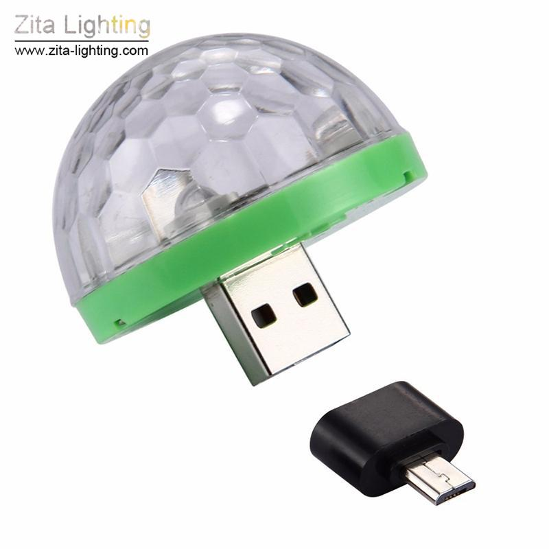 Zita Lighting 5V Mini USB Led Stage Light Music Control Light KTV DJ Disco Stage Effects Lamps Microphone Colorful Light Portable Fixture