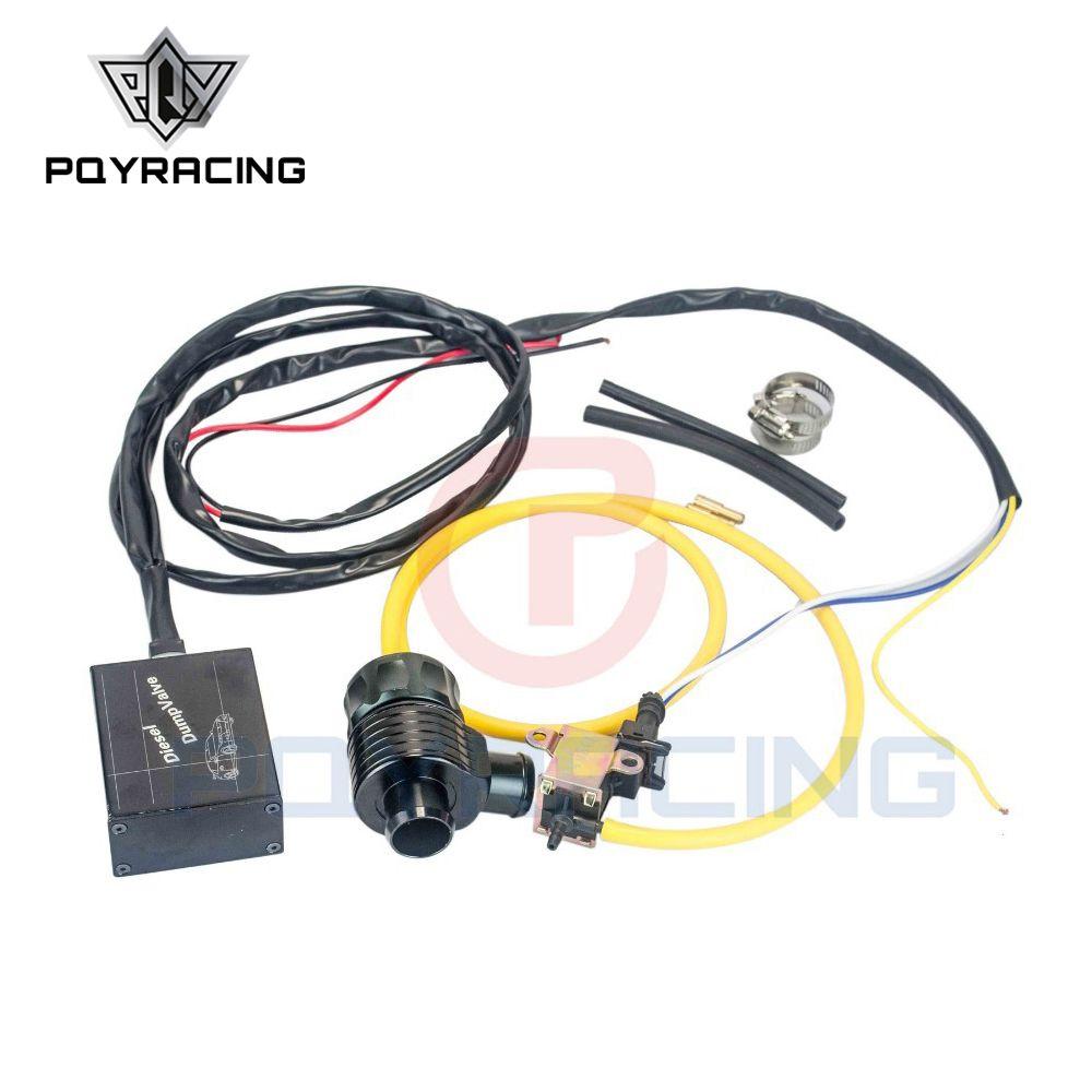 PQY - 새로운 전기 디젤 BLACK 블로우 오프 밸브 (어댑터 포함) 외부 / 디젤 덤프 밸브 / 디젤 BOV (어댑터 포함) PQY5011W + 5742