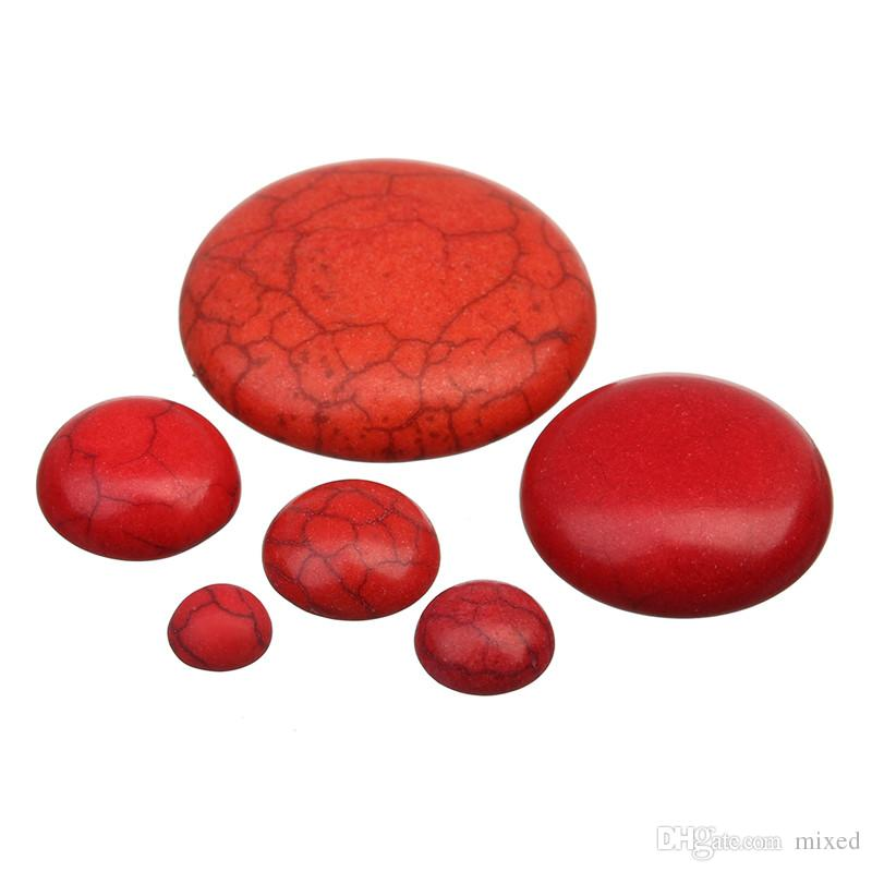XINYAO 50pcs/lot Natural Stone Cabochons Beads 6 8 10 12 14 16 18 20 25 30 mm Flatback Cabochon Beads Jewelry Making DIY F2047