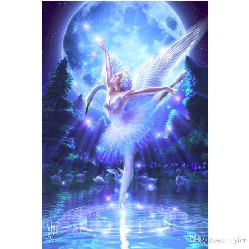 5D DIY Алмаз живопись вышивка полный квадратный круглый Алмаз Рождество Ангел Прыжки Лебедь танец фреска ремесло набор мода украшения дома