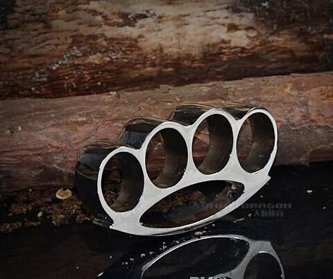 2pcs duster belt buckle F-S THICK CHROMED KIRSITE BRASS KNUCKLES DUSTERS Boxing Protective Gear FREE SHIPPING
