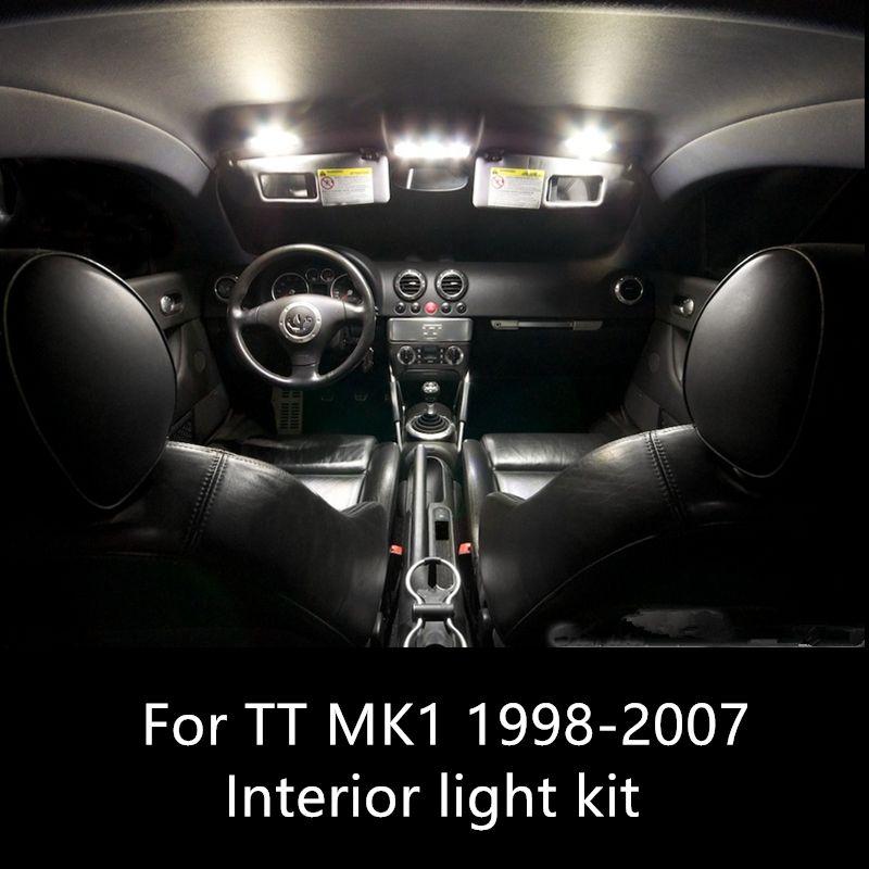 8 pcs canbus Auto Lâmpadas LED Car Kit Lâmpadas de Luz Interior Para Audi TT MK1 1998-2007 acessórios do carro Livre de Erros