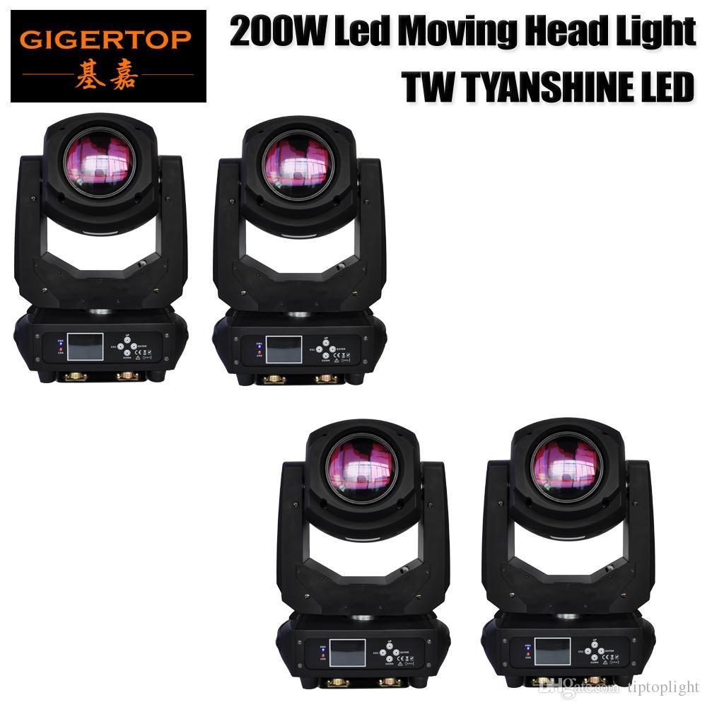 Baş Aydınlatma Spot aydınlatma dj seti gobo yılbaşı ışıkları Hareketli TIPTOP 4 Paketi 200W LED çubuğu parti olay TP-L660 için ışık projektörü dj