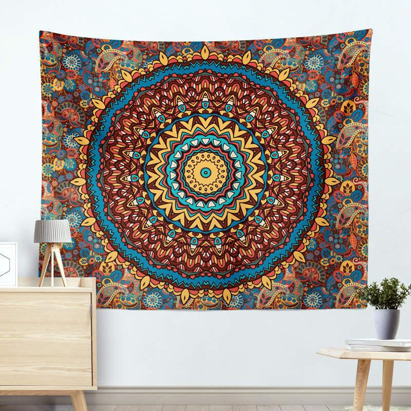 Home Textile Blanket Mandala estilo pastoral suprimentos quarto colorido cobertores xadrez domésticos Detalhes