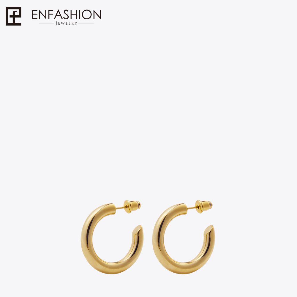 wholesale Small Hoop Earrings Solid Gold color Eternity Earings Stainless Steel Circle Earrings For Women Jewelry EC171023