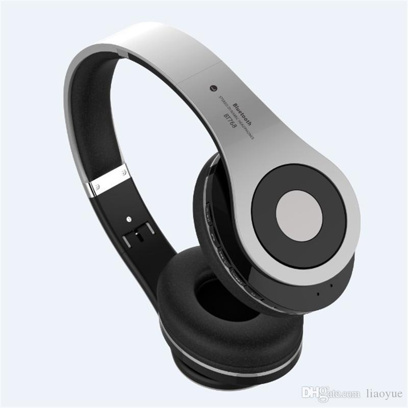 BT-768 High Quality Folding Bluetooth Headset Sporting Noise reduction Stereo headphones Support TF Card with Retail Package
