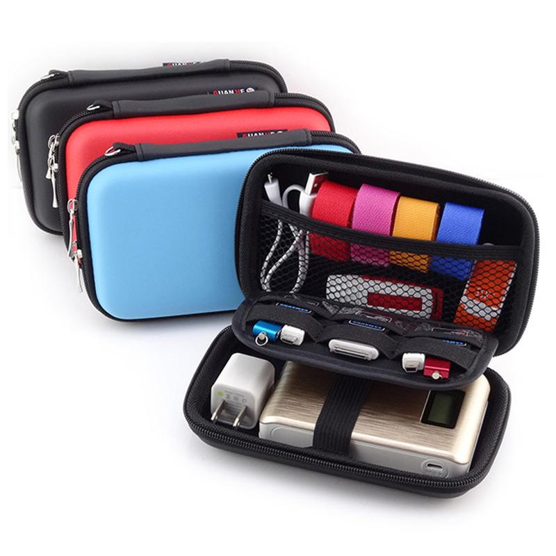 New 2018 Mobile Kit Case High Capacity Storage Bag Digital Gadget Devices USB Cable Data Line Travel Insert Portable