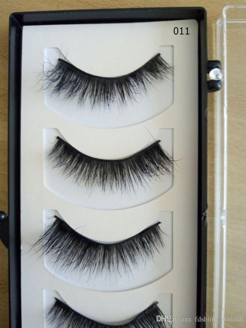 Hot Makeup 4 Pcs/Set Magnet Magnetic False Eyelashes 3D Mink Reusable Lashes Natural Long Thick Eyelash Extensions