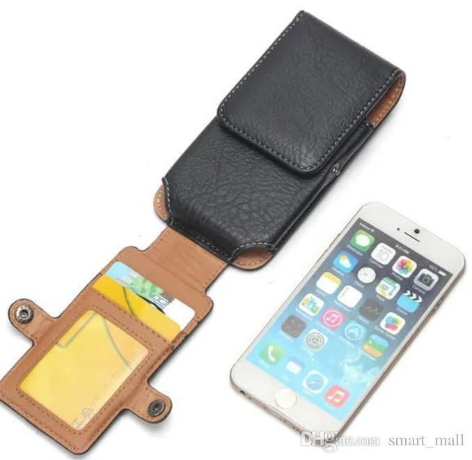 For Iphone 7 Plus Holster Pu Leather Holster Belt Card Cell Phone Case With Buckle For Iphone 8 Samsung Note 8 And More Phone Under 6 3 Inch Design Cell Phone Case Heavy