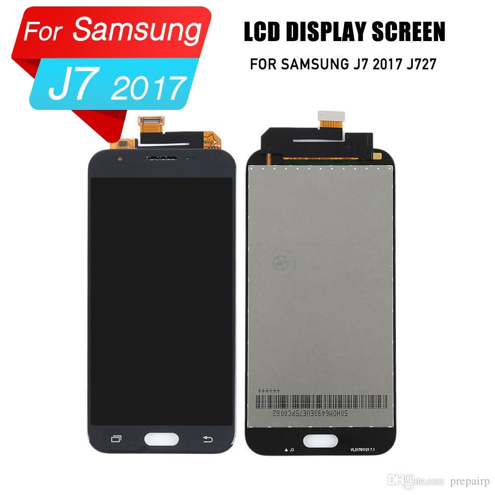 Samsung J7 J727 için prepairP lcd sayısallaştırıcı ekran lcd ekran Samsung j7 için 2017 sm-j727p j727a j727v lcd ekran dokunmatik ekran