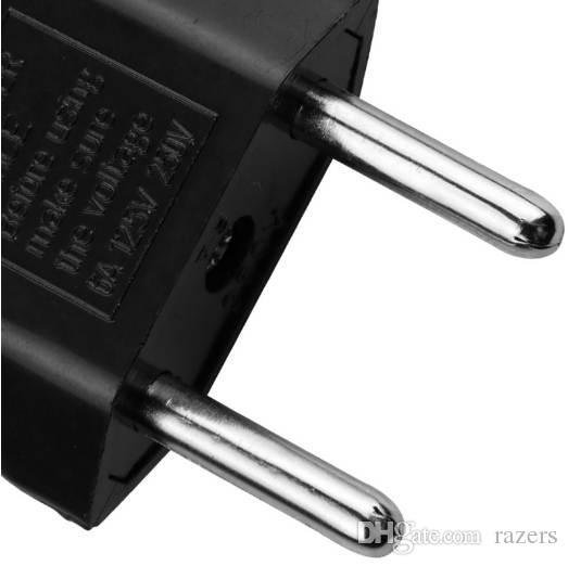 6a plugue adaptador da ue eua para euro europa tomadas de tomada de carga de energia da parede eua 2 pino liso para a ue 2 rodada pin adaptador de tomada de soquete
