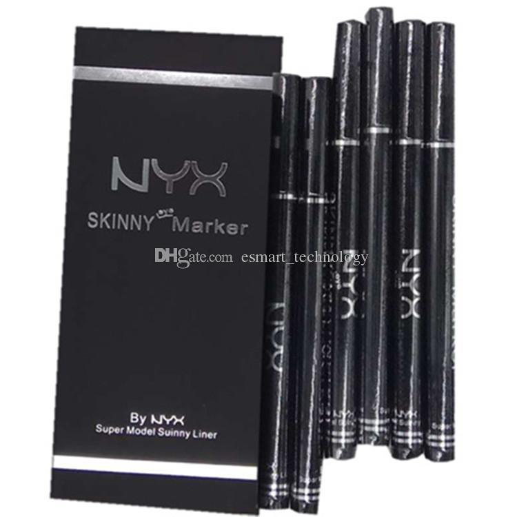 NYX Skinny Yey Marker Noir Eye-liner AN @ ST @ SIA Crayon Crayon Maquillage Cosmétiques DHL Livraison rapide gratuite