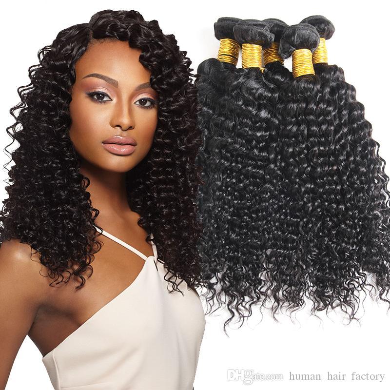 Brazilian 3Pcs & 4Pcs Curly Deep Wave Bundles 100% Unprocessed Virgin Human Hair Bundles Double Weft Peruvian Brazilian Virgin Hair