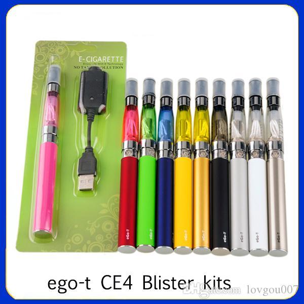 ego-t CE4 Blister kits، E cigarette؛ السجائر الإلكترونية الأنا. نفطة أطقم السجائر الإلكترونية. بطارية eGo-t البخاخة CE4