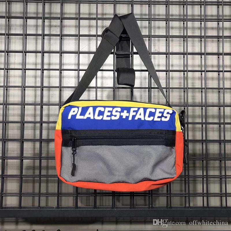 Places + CARAS Mochila P + F Bolsa de cintura bolsas de mensajero bolso de la correa de los hombres riñonera estilista Hombres paquete de la cintura bolsa pequeña de la pintada del vientre Bolsas
