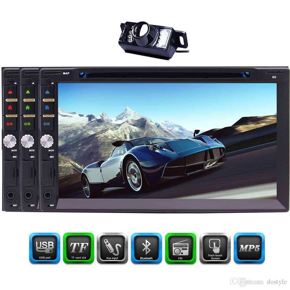 7-Inch Double Din Bluetooth Car DVD Player 1080P Capacitive touch Screen In Dash Car Stereo Radio Player USB AM/FM RDS Radio MP5