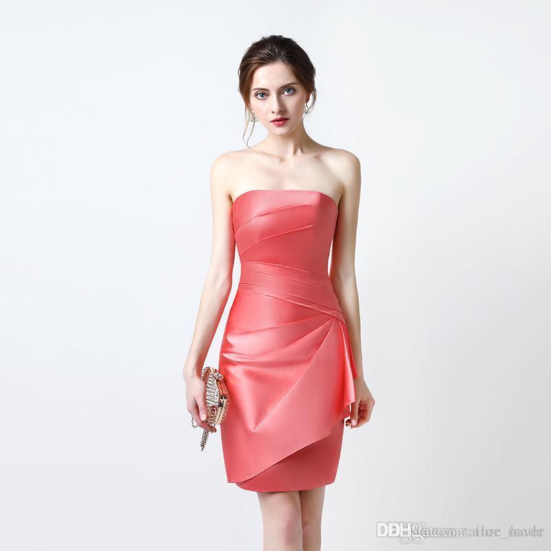 Cocktail Dresses Free Shipping Sexy Prom Dresses vestidos de noiva Strapless Neck Off Shoulder Formal Evening Prom Gown Vestidos De