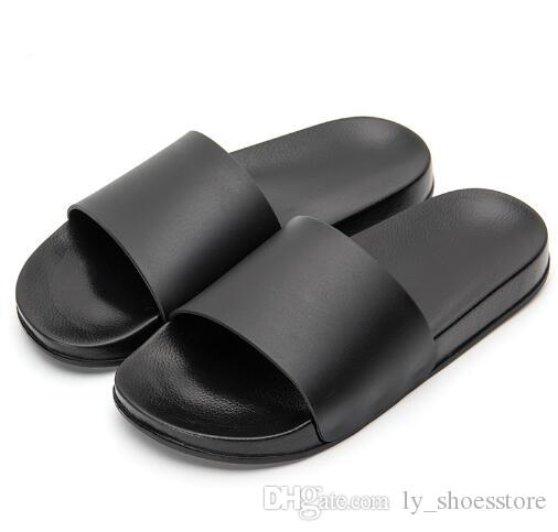 2018 Men Slipper Casual Black And White Shoes Non-slip Slides Bathroom Summer Sandals Soft Sole Flip Flops Man