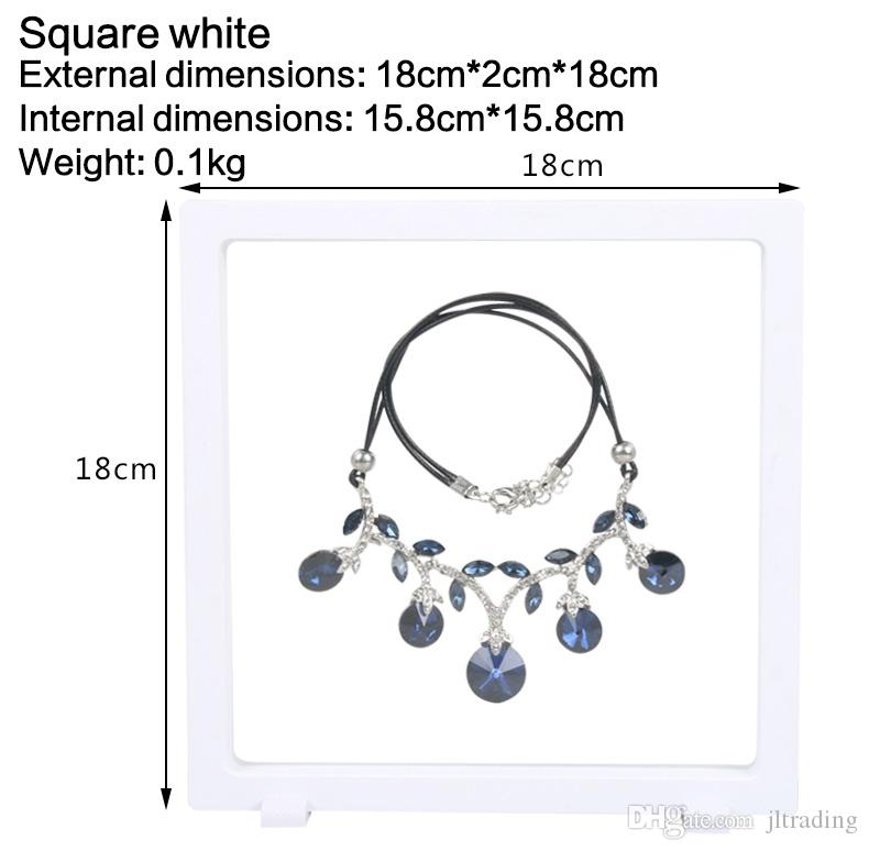 Wholesale Big PET Membrane Accessories Jewelry Necklace Packaging 3D Display Box Bague Jewellery Presentation Stand Holder Rack