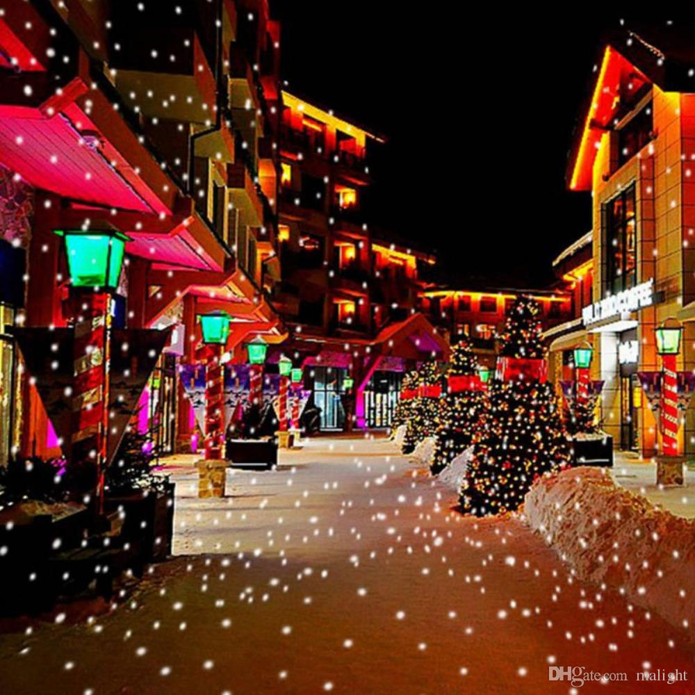 Christmas Projector Lights.2019 Snowfall Projector Lights Christmas Led Snowflake Outdoor Projector Show With Wireless Remote Waterproof Timing Function Rotating Projec From