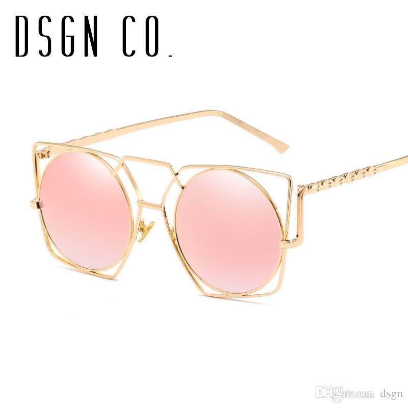 DSGN CO. 2018 Najnowszy Steampunk Vintage Okulary przeciwsłoneczne dla mężczyzn i kobiet Retro Okrągły Centrum Gotyckie Okulary Słońca 7 Kolor UV400