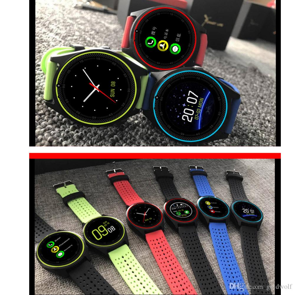New V9 Smart Watches SIM Intelligent Mobile Phone Watch Can Record the Sleep State Smart Watch with Package free shipping
