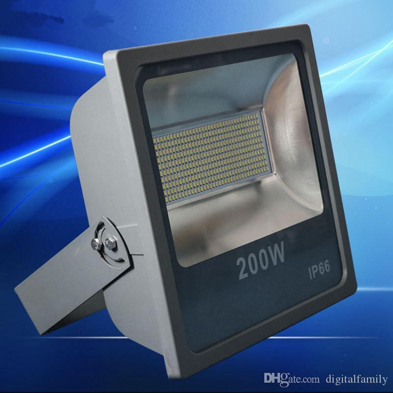 Светодиодный наводнение 200 Вт IP66 85-265V Светодиодный прожекторный светильник Открытый освещение Настенный светильник