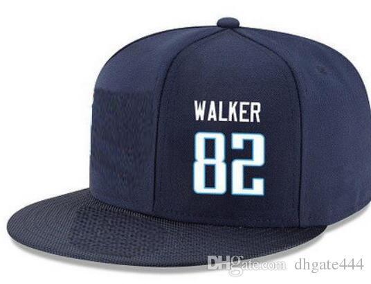 Snapback Hats Personalizzato qualsiasi numero Nome giocatore # 20 Sankey # 82 Walker Personalizzato TUTTI I tappi squadra Accetta logo o nome personalizzato ricamo piatto