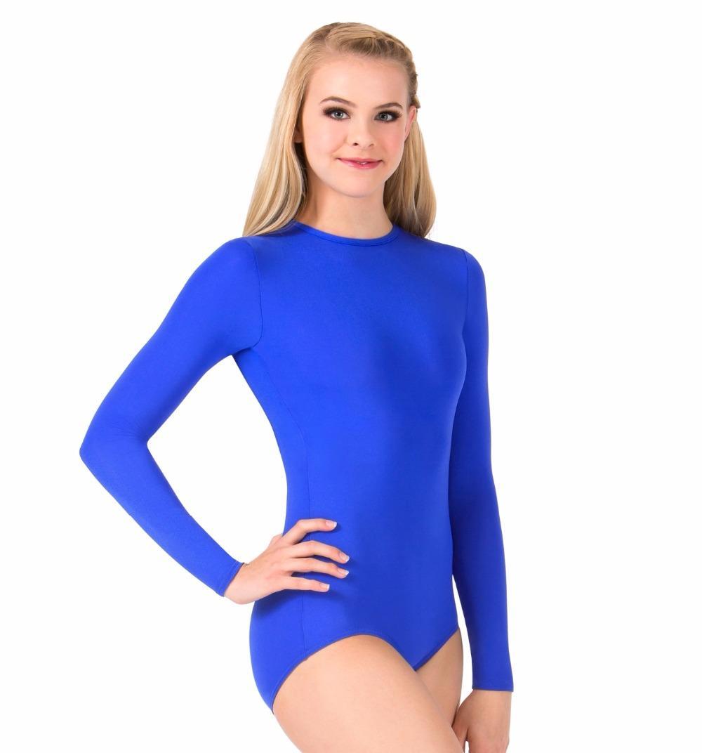 LZCMsoft Womens Snap Crotch Long Sleeve Leotard Girls Ballet Dance Leotards for Gymnastics Unitard Lycra Spandex Ballerina Suits