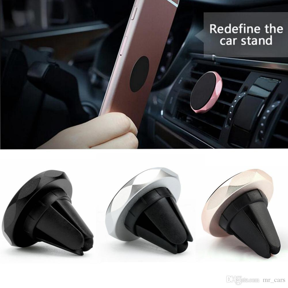 4 Color Universal Car Holder GPS Bracket Magnetic Stand Dashboard Mount Phone Holder Metal Phone Holder Car Styling BBA134