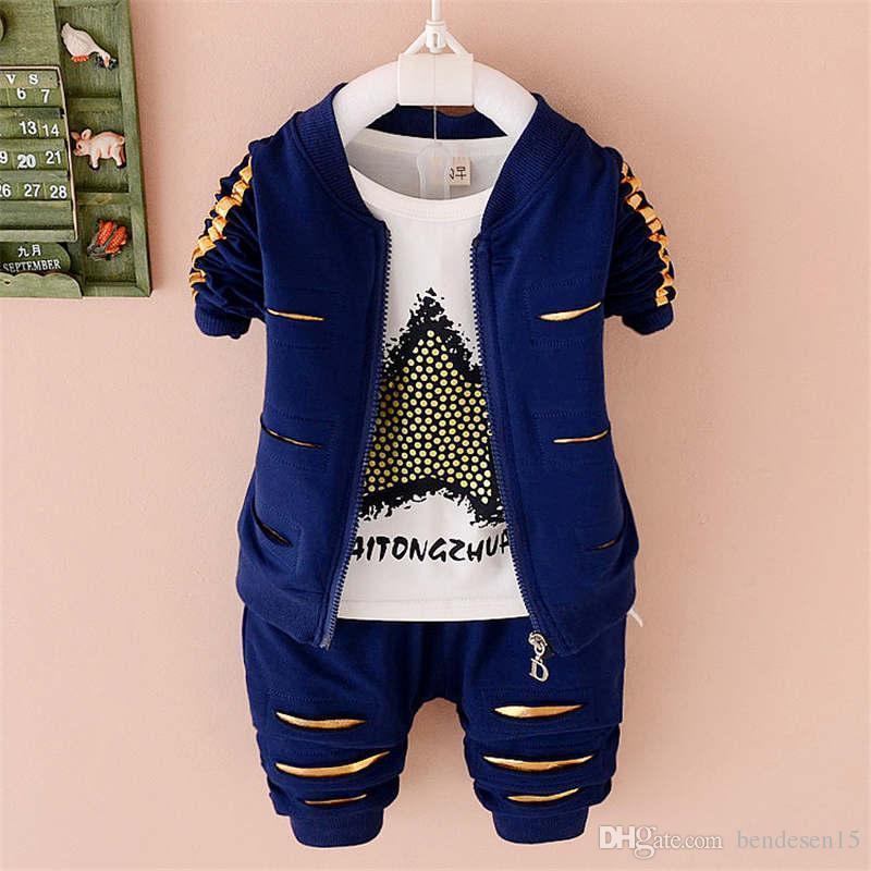 Spring Boys Girl Clothes Baby Solid Color Hoodies Pants Casual Cotton Outfits