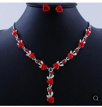Chaming Cristal Diamond Wddding Birdding Set Collier de dame Boucles d'oreilles Z (7.4) DCDSFS