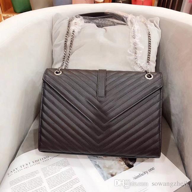 الحرة الشحن الجديدة الطراز الأوروبي السيدات الكلاسيكية حقيبة يد حقيبة الكتف حمل ITBag نقية 31cm صنع النبيل الناعمة