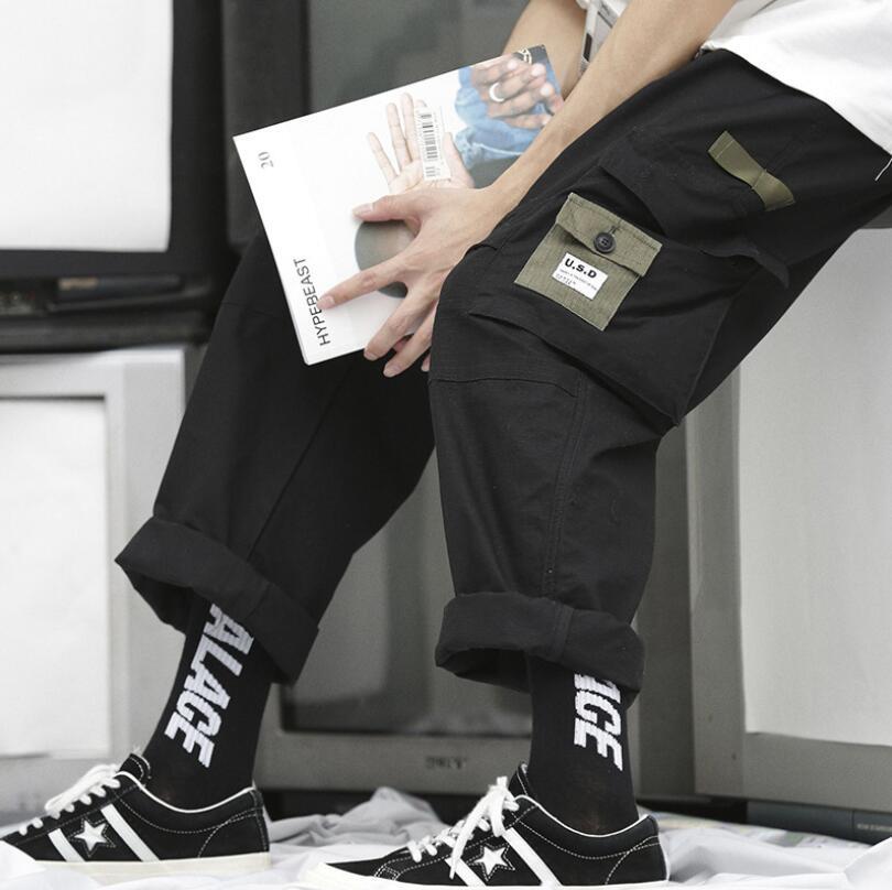 Neuerscheinung Multi Pocket Outdoor Desigher Sporthose Bekleidung Hose Herrenbekleidung Authentische Qualität Lose Streetwear