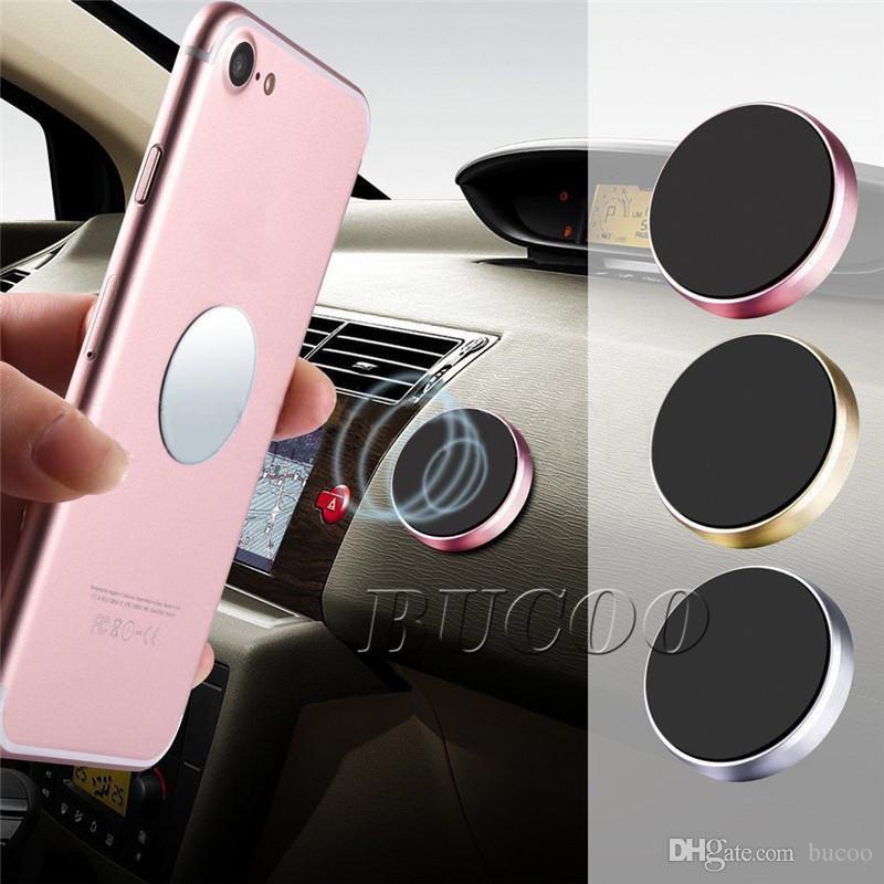 Mais novo forte suporte magnético do carro titular do carro vara plana ímã do telefone móvel para iphone 8 x samsung com caixa de varejo