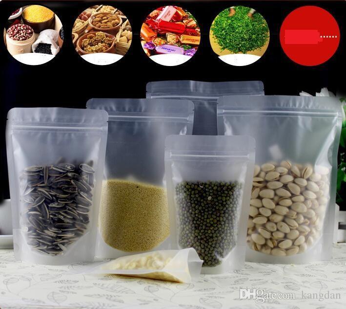 Buzlu Temizle stand up gıda ambalaj poşetleri için bisküvi şeker çay kahve kavun tohumları toptan kavrama çantaları plastik sızdırmazlık vanası çanta