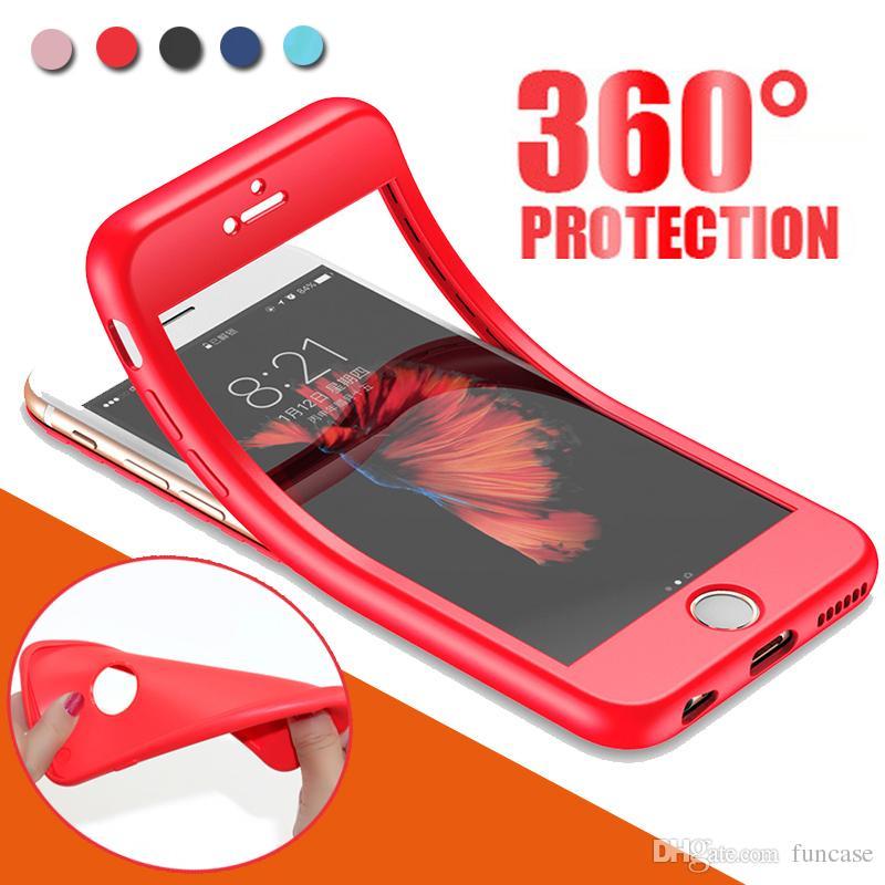 360 gradi Full Body antiurto TPU copertura copertura di caso per iPhone XS Max XR x 8 7 6 6S più 5 Samsung Galaxy S10 E S9 S8 Nota 9 A6 A8