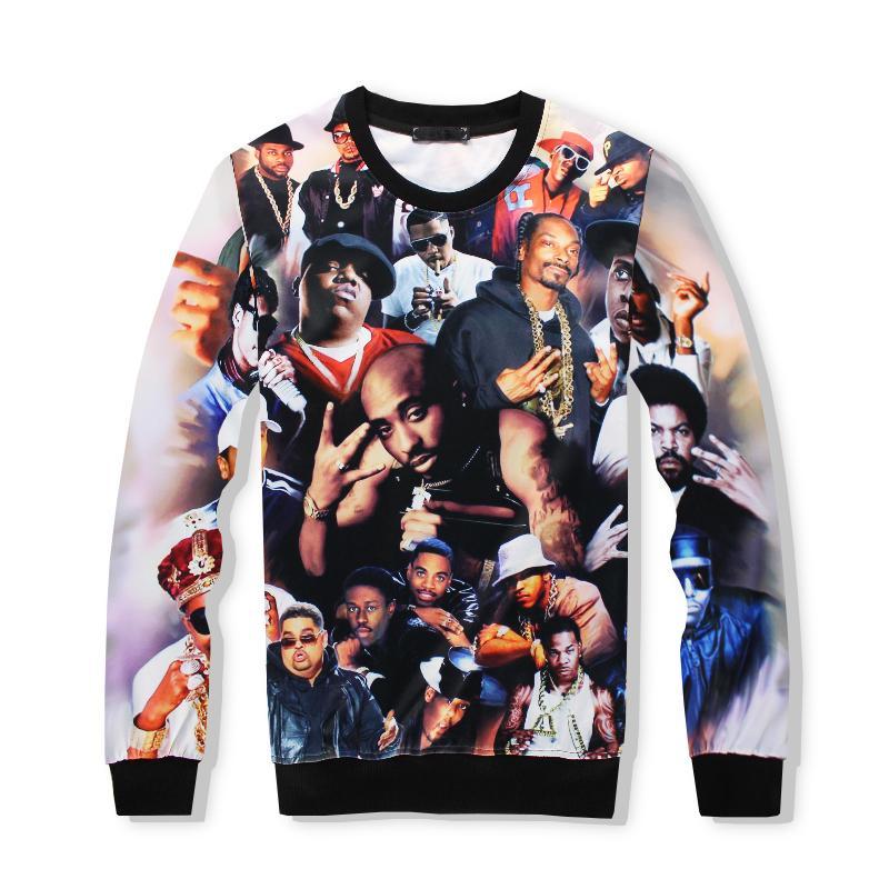 più economico d5d24 462b9 Acquista 2017 Marca Abbigliamento Autunno Hip Hop Felpa 2pac Tupac 3d  Stampa Felpe Con Cappuccio Thug Vita Felpa Tupac Shakur Felpa Con Cappuccio  A ...