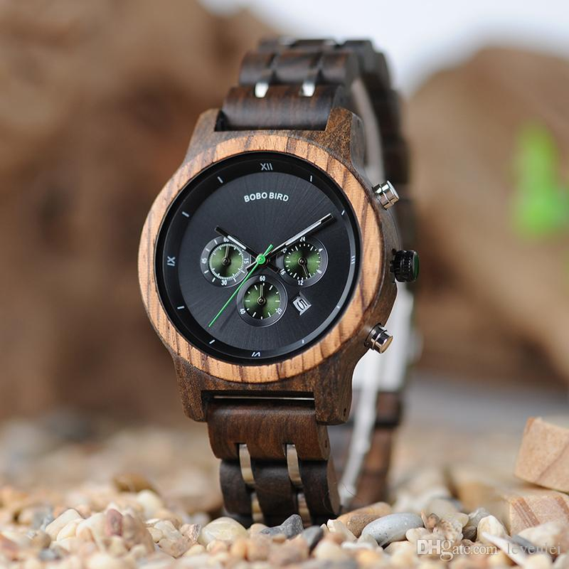BOBO BIRD P18 Luxury jam tangan Fashion Women 100% Wooden Quartz Watches Custom relogio feminino Drop Shipping Business Unisex Watch