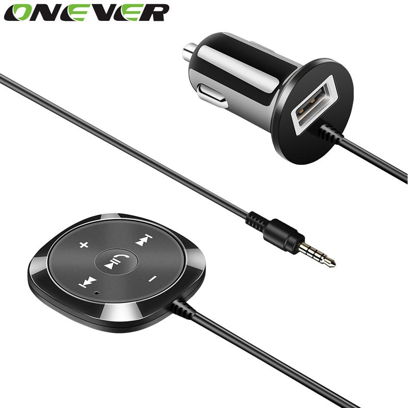 wholesale Handsfree Bluetooth Car Kit MP3 Player 3.5mm AUX Audio A2DP Music Receiver Adapter Support IOS Siri with Magnetic Base