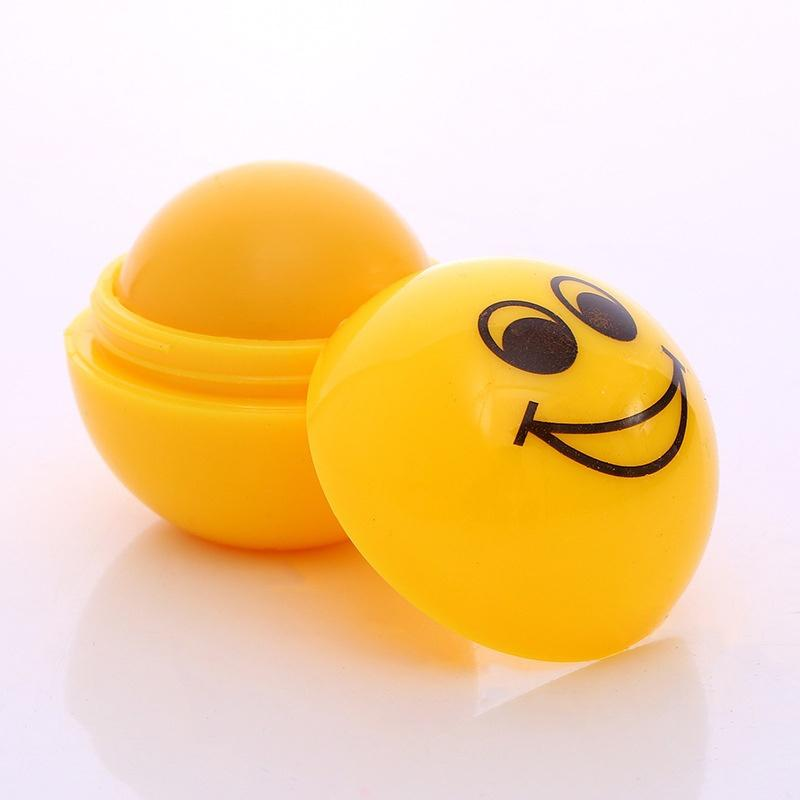 ROMANTIC BEAR Smiling-faces Magic Lip Balm Moisturizing Hydrating Pomade Cute Spherical Flavored Makeup For Dry Lips