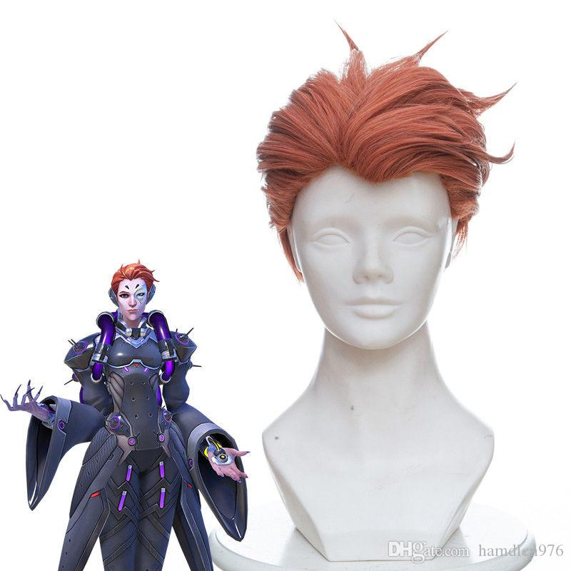 Frete grátisStraight orange vermelho peruca cosplay perucas de cabelo curto dos homens