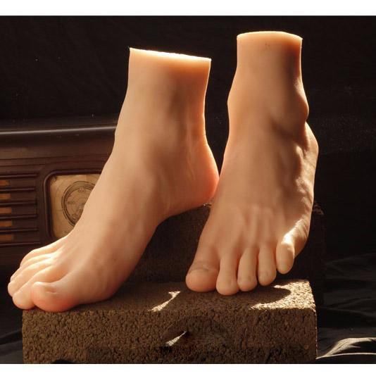 Newest Big Style Male Mannequin Foot Silicone Realistic Foot Model Mannequin Hot Sale