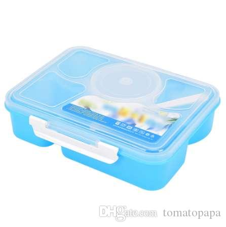 Portable 3 Sizes Plastic Clear Storage Food Lunch Box Pinic Container With Lid