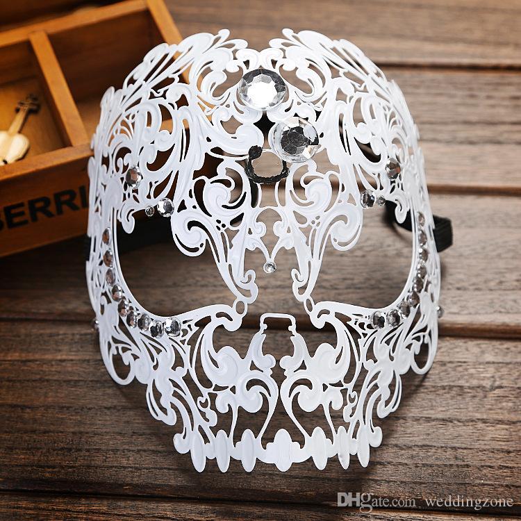 Metal Masquerade masks Elegant Metal Laser EyeCut Venetian Halloween Ball Masquerade mask for Party Cosplay Festival Show
