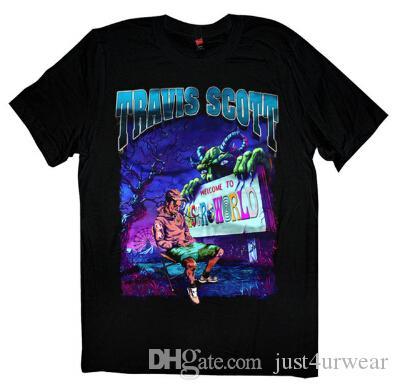 Astroworld Printed Male Women T shirts Rapper Travis Scott Summer Crew Neck Tees Short Sleeved Tops