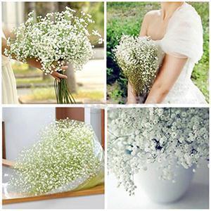 Fleurs artificielles gypsophila décoratif fausses fleurs de soie blanche gypsophila mariée bouquet de mariage décoration de mariage fleur 10pcs wholesale