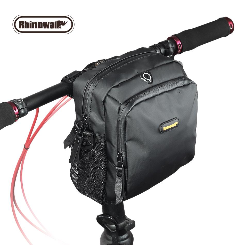 Multi-function Bike Front Bag Waterproof Twill Fabric 26inch Large Capacity Handlebar Bags With Earphone Hole MTB Bicycle Bags